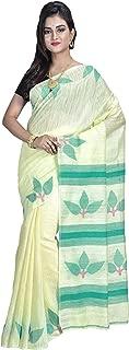 SareesofBengal Women's Handloom Matka Silk Jamdani Saree