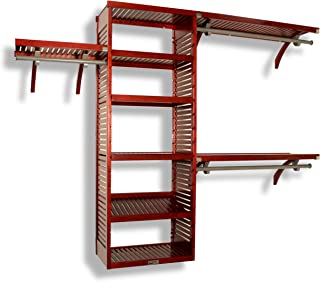 John Louis Home 16in Deep Deluxe Closet Organizer - Red Mahogany Finish