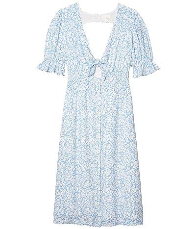 LOST + WANDER Wander My Way Midi Dress (Sky Blue/White) Women