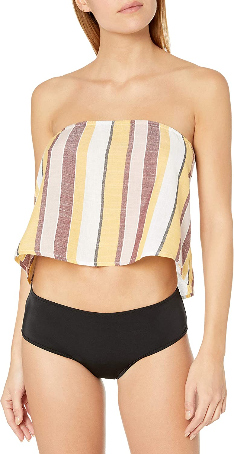 Seafolly Quantity limited Women's Standard Cropped Sale SALE% OFF Tube Strapless Top Flowy