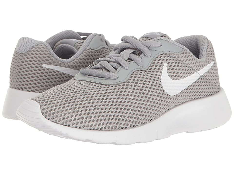 Nike Kids Tanjun BR (Little Kid) (Wolf Grey/White) Boys Shoes