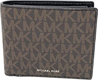 Michael Kors Mens Cooper Billfold with Coin Pocket - Brown/Black