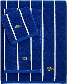 Lacoste Sport Stripe Wash Towel, Surf Blue