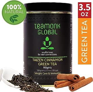 Teamonk Taizen Nilgiri Cinnamon Green Teabags - 30 Tea Bags | Premium Cinnamon Tea | Weight Loss Tea | Slimming Tea | Supports Immunity | No additives