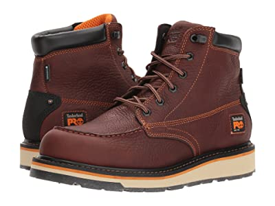 Timberland PRO Gridworks 6 Moc Soft Toe Waterproof (Brown Tempest Rancher) Men