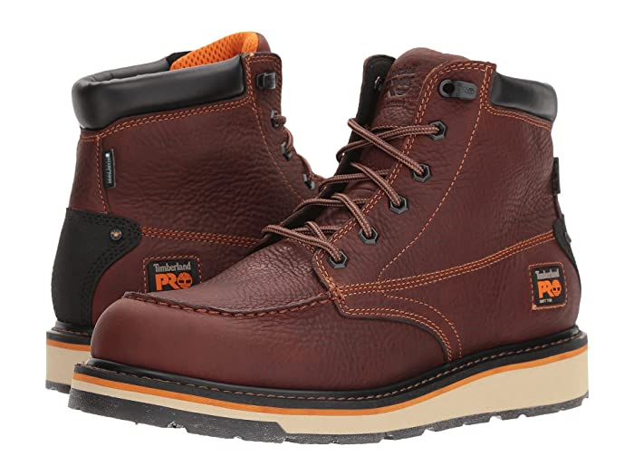Timberland PRO  Gridworks 6 Moc Soft Toe Waterproof (Brown Tempest Rancher) Mens Work Lace-up Boots