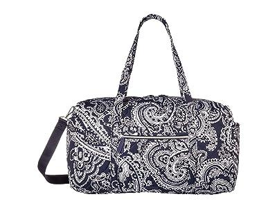 Vera Bradley Iconic Large Travel Duffel (Deep Night Paisley Neutral) Duffel Bags