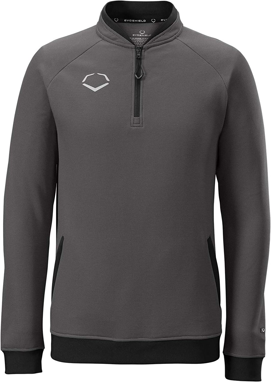 EvoShield WTV2014CHS Youth Pro Team Heater Fleece 1 4 Zip, Charcoal