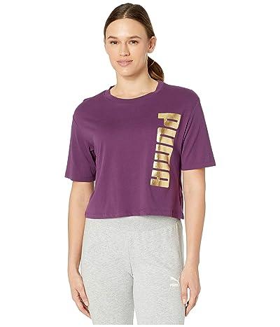PUMA Holiday Pack Tee (Plum Purple) Women