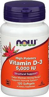 Now Foods Vitamin D3 5000 IU - 120 Softgels, 2 Pack