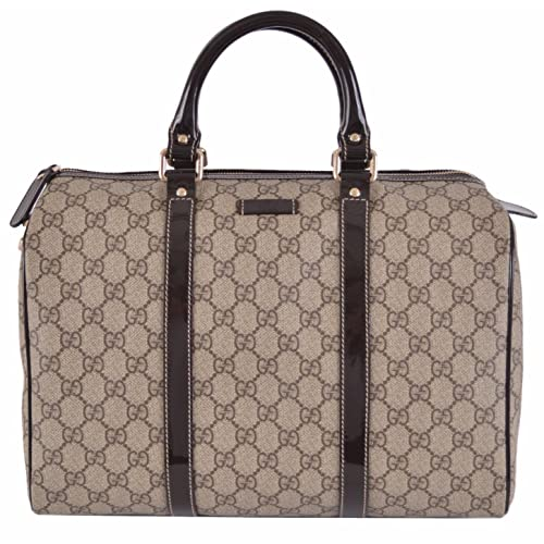 5a346bc58 Gucci Women's Beige Brown GG Supreme Canvas Boston Purse Satchel