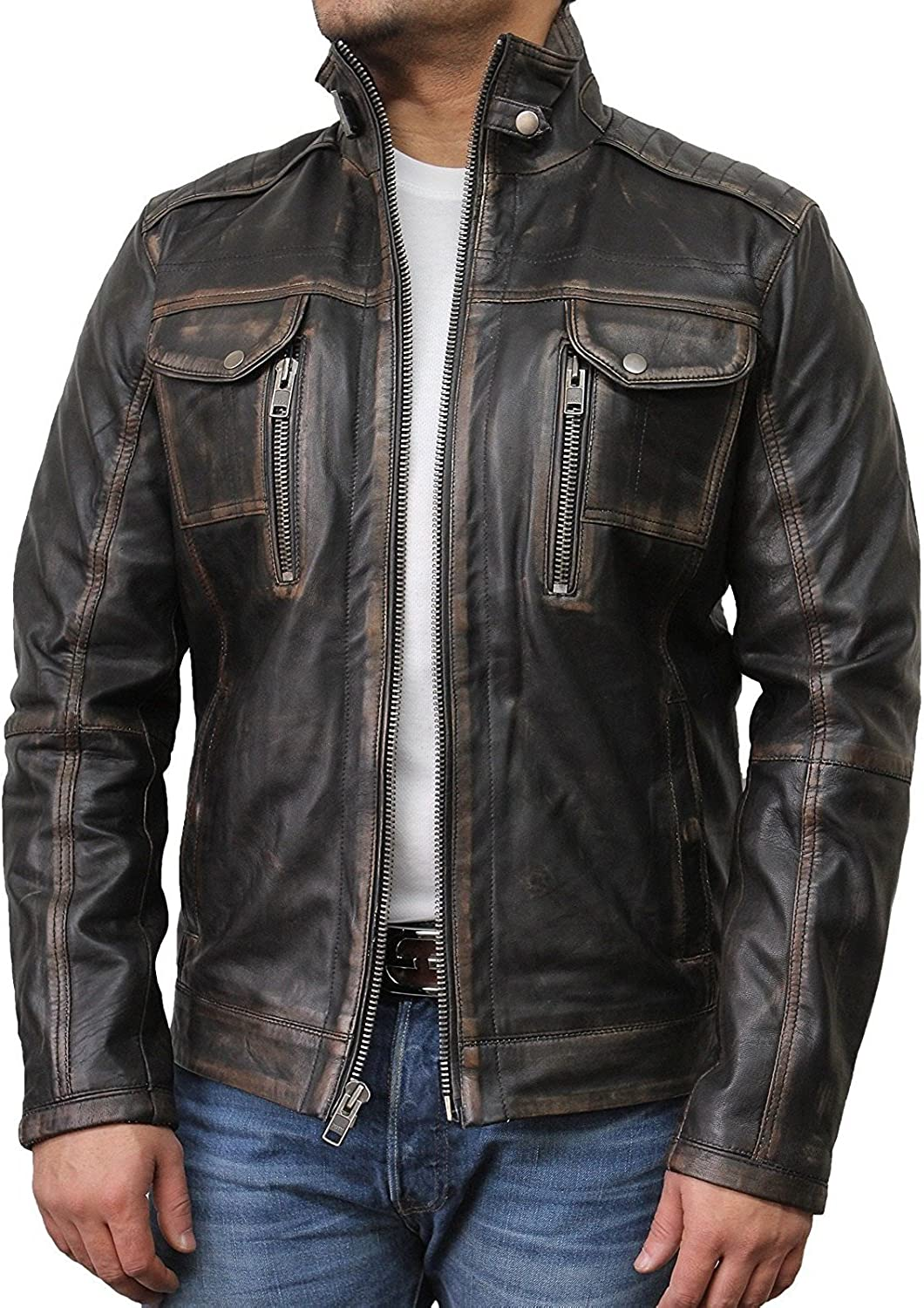 Best Seller Leather Men Pure Real Genuine Leather Jacket