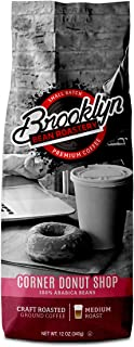Brooklyn Beans Corner Donut Shop 100% Arabica Craft Roasted Ground Coffee, Medium Roast, 12 Ounce Bag
