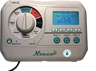 NxEco HWN8-200, Smart Irrigation Sprinkler Controller, WaterSense Labeled Smart Watering Timer , Works with Google Home and Alexa