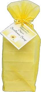 Dakota Free Organic Sunflower Soap Stack (5 bars in a yellow organza bag)