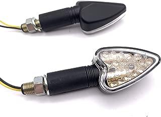 PROZOR 4 Piezas Moto Luces LED de Se/ñal de Giro 12LEDs Impermeable Intermitentes Homologados E24 Universal Indicador de Posici/ón Ambar para 12V Motocicleta M10