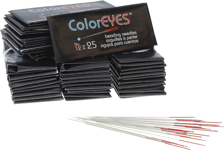 The Beadsmith New popularity ColorEYES Many popular brands Beading Needles Size Bag 1000 1 12 Nee