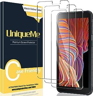UniqueMe [3 pièces] Verre Trempé Compatible avec Samsung Galaxy Xcover 5,Film Protection écran [Sans Bulles][9H Dureté] vitre