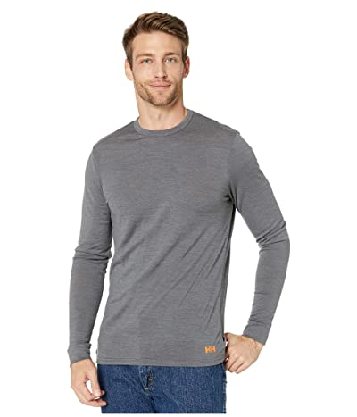 Helly Hansen Merino Mid Long Sleeve (Charcoal Melange) Men