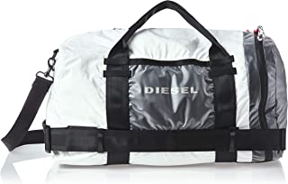 Diesel Men's M-Cage Duffle M-Travel Bag, White/Black, UNI