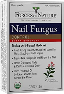 Forces of Nature -Natural, Organic Nail Fungus Extra Strength Treatment (11ml) Non GMO, No Harmful Chemicals –Fight Damaged, Cracked, Brittle, Discolored Yellow and black Toenails, Fingernails