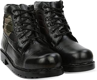 Blinder Mens Black Green Leather DMS Lace-Up Derby Boots