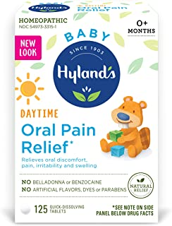 Hyland's Baby Oral Pain Relief Tablets with Chamomilla, Soothing Natural Relief of Oral Discomfort, Irritability, and Swel...