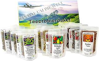 Tee Probierpaket Einmal Um Die Welt  Im Edlen Geschenkpaket 12 x 25 g