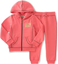 Juicy Couture Baby Girls' 2 Piece Hooded Jacket and Jog Pant Set