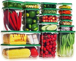 Lockcoo Ensemble de boîtes de Rangement Alimentaires avec Couvercle, 17 pièce récipients Alimentaires en Plastique sans BP...