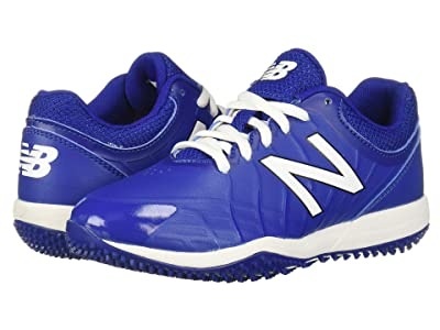 New Balance Kids 4040v5 Turf Baseball (Little Kid/Big Kid) (Black/Royal) Kids Shoes