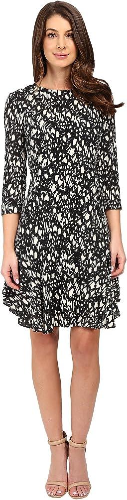 3/4 Sleeve A-Line Dress