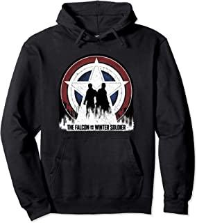 Marvel The Falcon and the Winter Soldier Silhouettes Sweat à Capuche