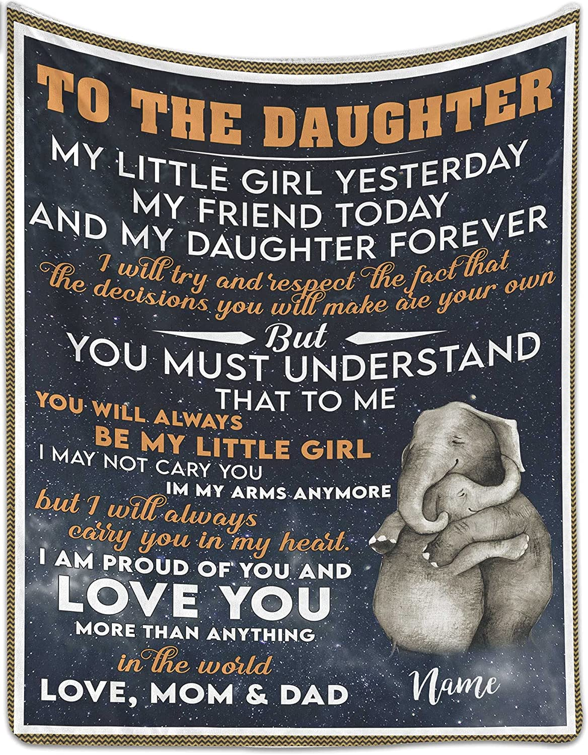 Personalized Fleece Blanket Online limited product to My - Girl Little Daughter Yest Ranking TOP6