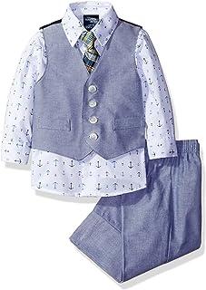94177859e244 Nautica Baby Boys 4-Piece Set with Dress Shirt, Vest, Pants, and