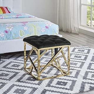 black gold ottoman