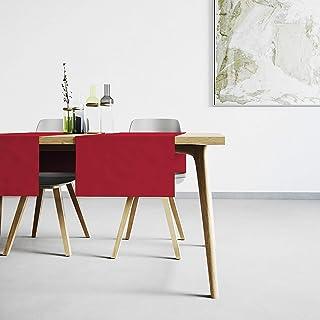 Mistral Home Chemin de Table Rouge - 45x145 cm - Linge de Table Anti-Taches au touché Naturel - mélange Coton Polyester - ...