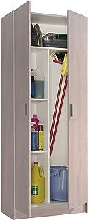 Habitdesign 007142R - Armario 2 Puertas escobero Armario Multiusos Color Roble Medidas: 73 cm (Largo) x 180 cm (Alto) x...