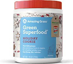 product image for Amazing Grass Green Superfood: Super Greens Powder with Spirulina, Chlorella, Digestive Enzymes & Probiotics, Holiday Cookie, 30 Servings
