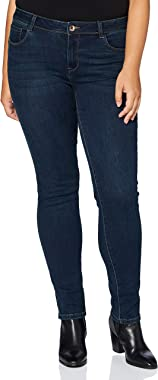Morgan Jeans Slim Taille Standard À Poches Pom Femme
