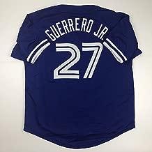 Unsigned Vladimir Guererro Jr. Toronto Blue Custom Stitched Baseball Jersey Size Men's XL New No Brands/Logos