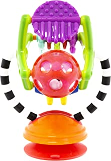 Sassy Teethe & Twirl Sensation Station 2-in-1 Suction Cup High Chair Toy | Developmental Tray Toy for Early Learning | for Ages 6+ Months