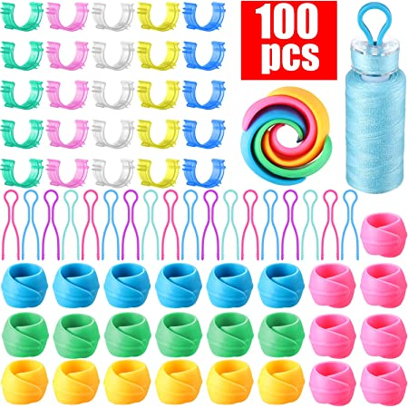 Snug Fit for Embroidery Quilting /& Sewing Thread Bobbini Perfect for L Stack Bobbins on Spool Tops Embroidex Set of 48 Bobbin Holder for Thread Spools M /& A Type Bobbins