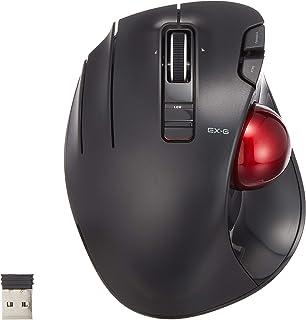 ELECOM Linkshänder Wireless Thumb Powered Trackball Mouse 6 Tasten Funktion mit Smooth Tracking, Precision Optical Gaming Sensor (M XT4DRBK G)