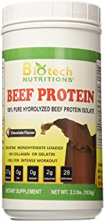 Biotech Nutritions Hydrolyzed Beef Protein Supplement, Chocolate, 2.3 Pound