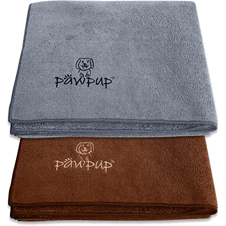 PAWPUP Dog Towel Super Absorbent - Pack of 2 - Quick Drying Super Soft Microfiber Pet Towel for Dogs, Cats and Other Pets