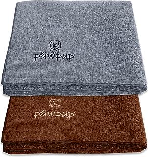 حوله سگ PAWPUP فوق العاده جاذب - بسته 2 عددی - خشک کردن سریع حوله حیوان خانگی میکروفیبر فوق نرم برای سگ ، گربه و سایر حیوانات خانگی