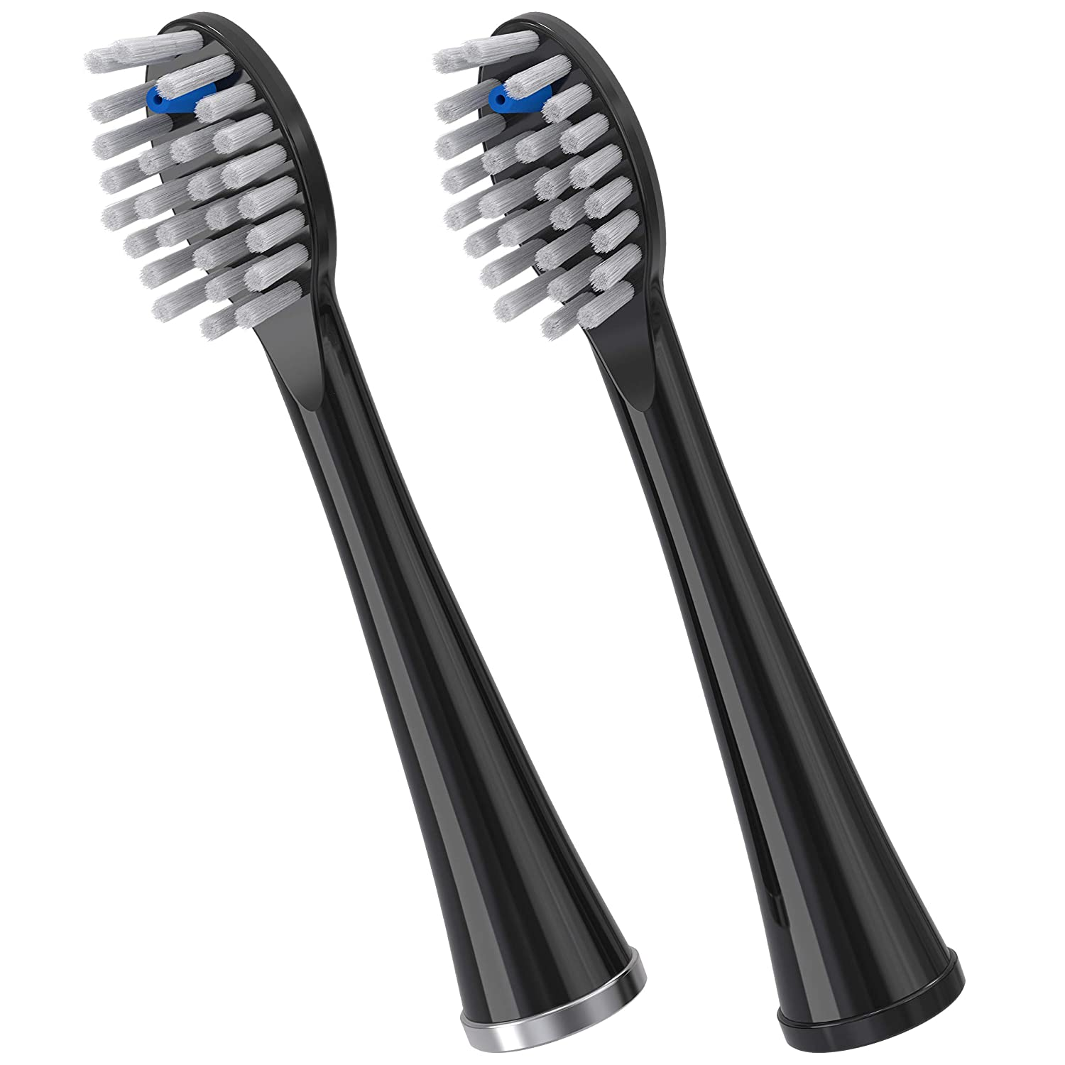 Waterpik Full Size Replacement Brush Heads for Sonic-Fusion Flossing Toothbrush SFFB-2EB, 2 Count Black