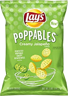Lay's Poppables Potato Chips, Creamy Jalapeno, 5oz bag