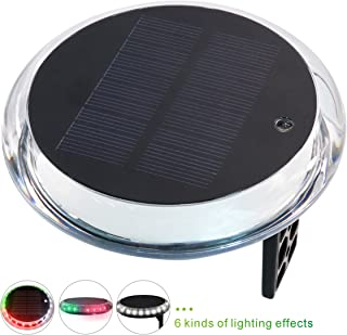 iztor Solar Powered 6 Modes Navigation Anchor Lights Deck Lights and Waterproof Wireless Remote Control for Marine